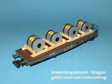 Ladegut H0 - Stahl-Coils (2er-Set, L=2x60 mm) für Schwerlastwagen, Flachwagen