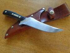 "SCHRADE OLD TIMER 15OT 6"" DEERSLAYER LARGE HUNTING  KNIFE  LEATHER BELT SHEATH"