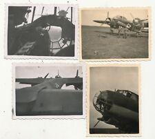 4 x Foto - Flugzeug Dornier Do 17 - 2.WK