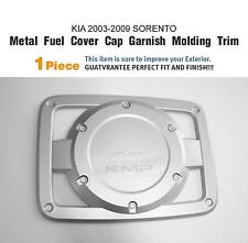 Chrome Fuel Door Oil Cap Cover Garnish Molding Trim For KIA 2003 - 2009 Sorento