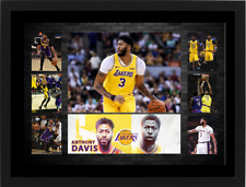 ANTHONY DAVIS LOS ANGELES LAKERS SIGNED FRAMED NBA PHOTO COLLAGE