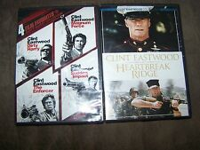 (5) Clint Eastwood DVD/Movies Dirty Harry, Magnum Force, The Enforcer,Sudden Imp