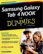 Samsung Galaxy Tab 4 NOOK For Dummies, Sandler, Corey, Good Condition, Book