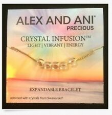 Authentic Alex and Ani Crystal Infusion Golden Shadow Swarovski Crystal Bracelet