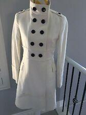 MNG MANGO Women's Ivory Coat Jacket Double Breasted Size M