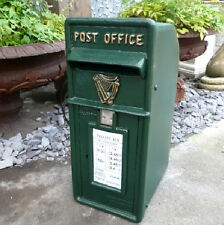 Antique Irish Green With Harp Design Post Box  |  Warwick Reclamation