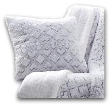 "DaDa Bedding Luxury Faux Fur Throw Pillow Cover, Dreamy Milky White Purple 18"""