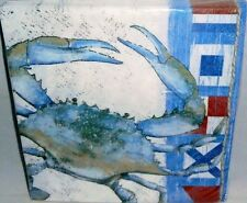 """Luncheon Napkins 20 Ct 2-Ply BLUE CRAB 12 7/8"""" X 12 3/4"""""""