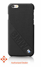 100% Official BMW iPhone 6/6S Leather Hard Case BMHCP6LDLB - Black