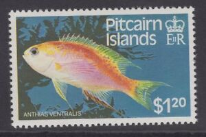 PITCAIRN ISLANDS SG257w 1984 $1.20 FISH WMK CROWN TO RIGHT OF CA MNH