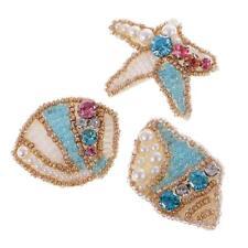 Bordado perla perla parche mar motivo apliques coser en la ropa accesorio de