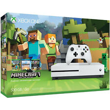 MICROSOFT XBOX ONE S CONSOLE 500GB WHITE - NO GAME - NEW BOX DAMAGE