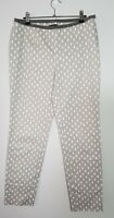 Peserico Sign Trousers, Size 44, AU 12, Beige with white spots,