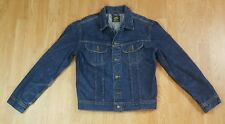 "Lee Premium Quality Denim Trucker Jacket Size Large Slim Fit 46"" Chest"