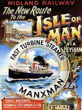 ship line boot fähre isle mann irische see manx uk art print poster cc2212