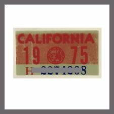 1975 California YOM DMV License Plate Registration Sticker / Tag 1970s Plates
