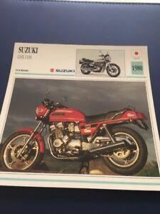 Suzuki GSX1100 1980 GSX 1100 Tarjeta Moto Colección Atlas Japón
