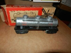 MARX #284 UTLX 3 Dome Tank Car , 8 Wheel, OB,  Original