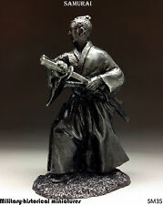 Samurai, Tin toy soldier 54 mm, figurine, metal sculpture