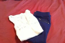 Girls Cloths, Outfit, Size 14, Lot of 2, Purple pants and a white top