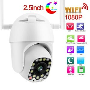 1080P WIFI Security Camera Waterproof Two Way Audio Support P2P EU Plug