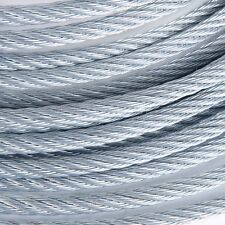 "3/8"" Galvanized Aircraft Cable Steel Wire Rope 7x19 (250 Feet)"