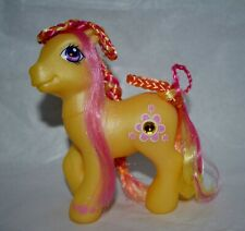 My Little Pony 2003 Gem Blossom Fancy Hair Style MLP with brush Jewel Ponies