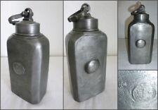 Alte Zinnflasche mit Schraubverschluss Höhe 20cm