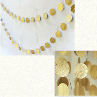 Gold glitter Kreis Wimpelgirlande Girlande Party Geburtstag Dekoration Deko Even