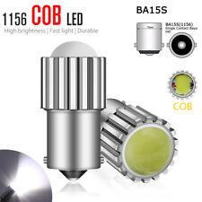 2x 1156 COB LED Bulb BA15S 6000K White Super Bright Tail Brake Reverse Light NEW