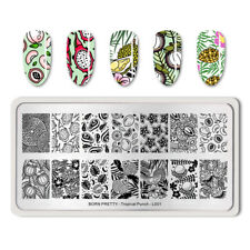 Born Pretty Nail Art Stamping Image Plate Tropical Punch-L001 Rectangle Template