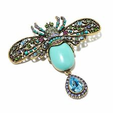 Heidi Daus Bee-Jeweled Bee Design Pin Brooch