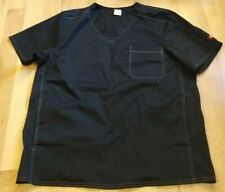 Dickies Black Scrub Top Size L