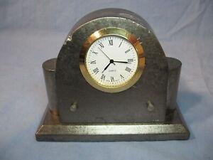 Vintage Quartz Tombstone Desk Clock Japan Movement
