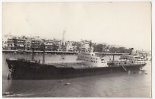 "British Built Oil Tanker MT ""Bideford"" at Anchor RP PPC Unposted c 1950's"