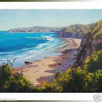 central coast beach painting ocean Wall art surf seascape Realistic Artwork