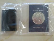 1973 Cayman Islands $5 Silver Proof Coin still sealed in original package !!!!