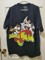 Vintage 90s Space Jam T-shirt Looney Tunes Basketball Sz 3XL (B4)