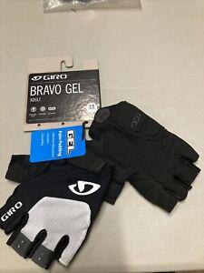 ! Giro Bravo Gel Adult Medium Cycling Bike Bicycle Gloves Medium White/Black