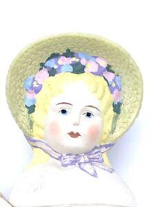 "Daisy Kingdom 15"" SARAH JANE Victorian Doll Cloth Body for Dressing Bonnet 1991"