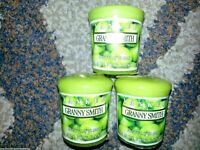 Set of 3 YANKEE CANDLE Granny Smith Apples SAMPLER VOTIVE Retired WAX POTPOURRI