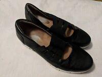 Clarks Sz 7 / 37.5 Black Soft Cushion Comfort Mary Jane Slip On Flats Shoes