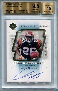2004 Ultimate Collection CHRIS PERRY On Card Auto RC #/250 BGS 9.5/10 Low Pop