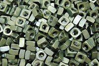 (100) Galvanized 1/2-13 Square Nut - Coarse Thread