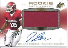 Jermaine Gresham Auto Jersey Rookie Card Upper Deck UD SPX 029/375 RC Sooners OU