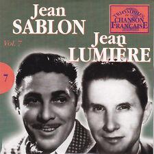 CD CARTONNE CARDSLEEVE 25T JEAN SABLON ET JEAN LUMIERE