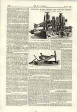 1889 Horizontal Boring Drilling Surfacing Machine Bohler Rail Raiser