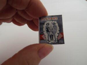 Mini  'PLAYBOY' Magazine  - Dollshouse  1:12 scale OPENING with printed PAGES