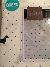 Dachshund Black Doxie Weiner Dog Puppy Queen Sheet Set 100% Cotton NIP Polka Dot