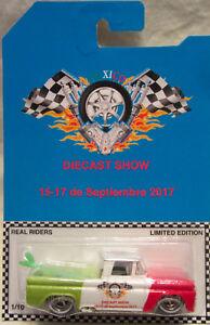 Hot Wheels Personnalisé '62 Chevy 2017 Mexico Miniature Show Real Riders 1/10 À